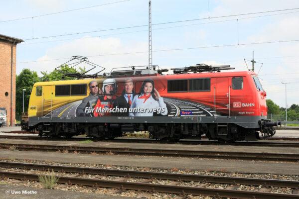 ADAC-Werbelok 111 024 Im DB Regio AG, Werk München-Pasing